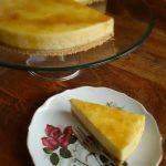 Puntje taart op een bordje