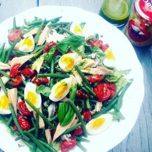 Heerlijke twist op een #salade nicoise!. #tonijn #zomer#lekker