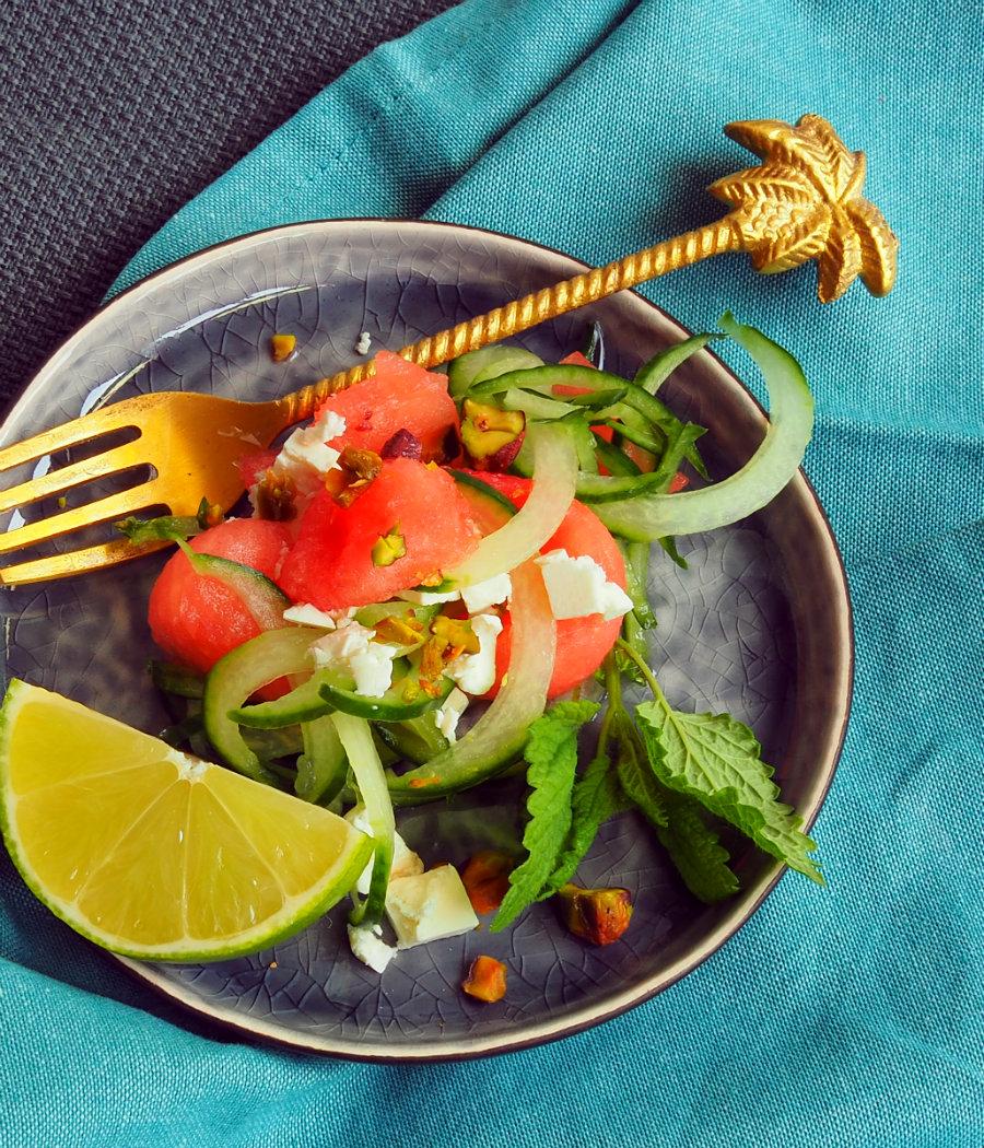 voorgerecht watermeloensalade