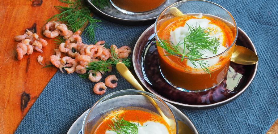 soep van Hollandse garnalen